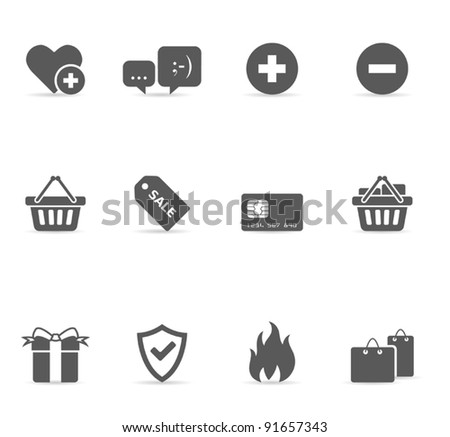 Single Color Icons - More Eecommerce - stock vector