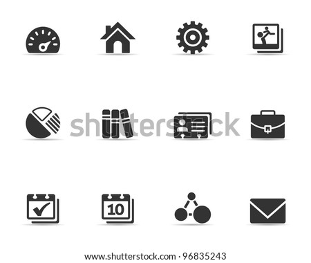 Single Color Icons - Universal Icons - stock vector
