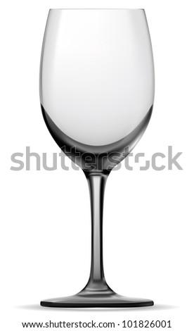 Single empty wine glass. Vector. - stock vector