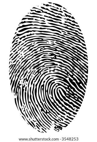 single fingerprint - stock vector