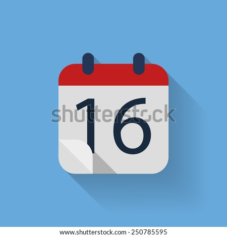 Single flat calendar vector icon - stock vector