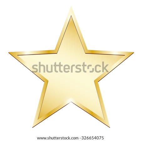 Single gold star - stock vector