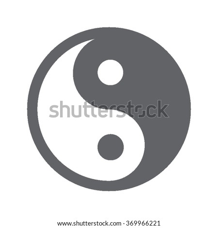 Single Gray Icons - Yin And Yang - stock vector