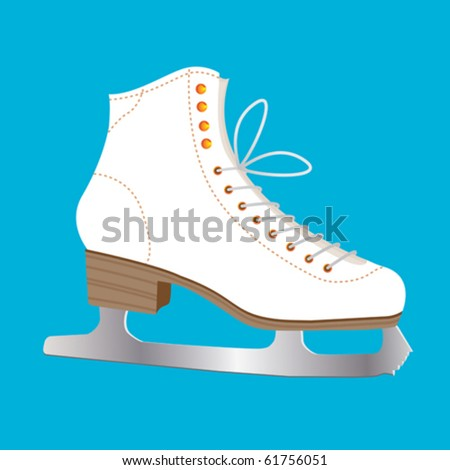 Single Ice Skate ready to draw beautiful circles on ice.