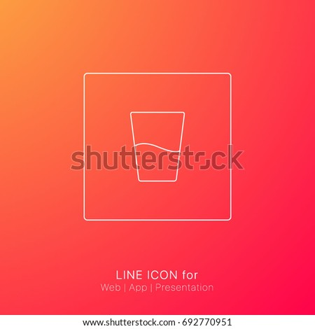 Single Icon Water Glass Freshness Elements Stock Vector 692770951