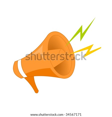 single megaphone - stock vector
