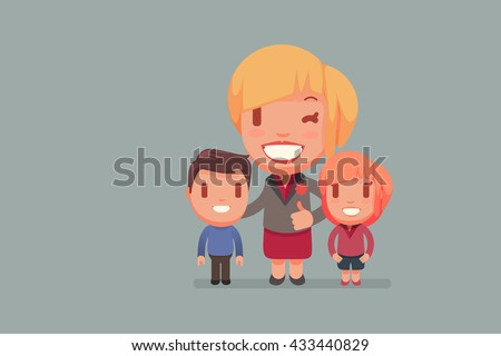 Single Parent vector illustration - stock vector
