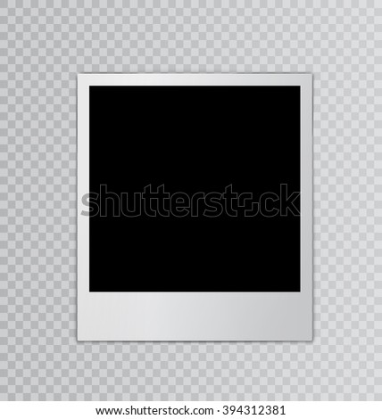 Single photo frame for design scrapbook space for your text transparent background - vector - stock vector