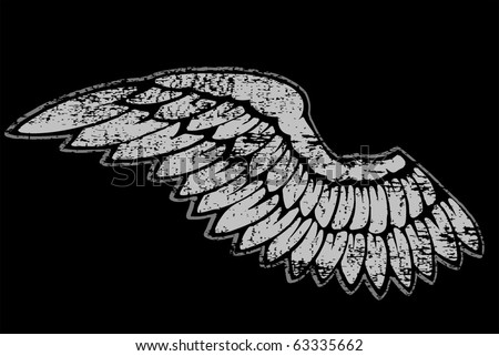 single wing - stock vector