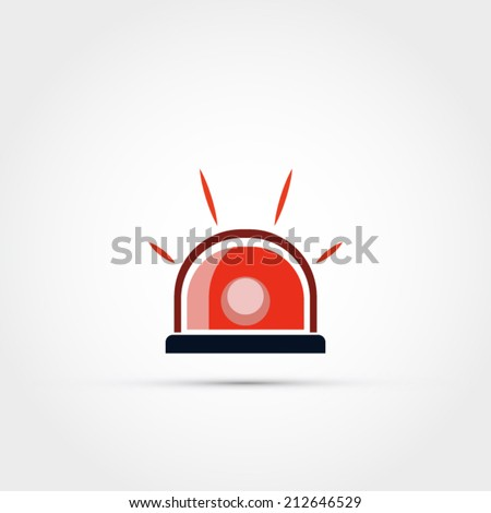 Siren icon - stock vector