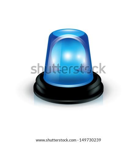 siren isolated on white - stock vector