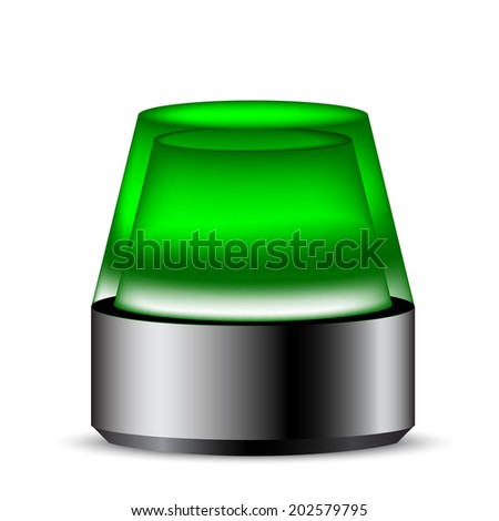 Siren real isolate revolving light color  - stock vector