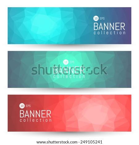 Site Banner Collection. Headers Set. Hero Backgrounds - stock vector