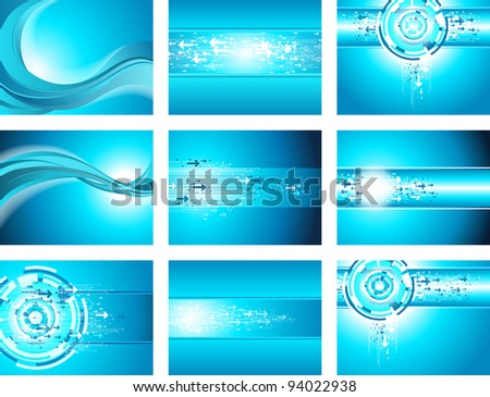 Site Blue Wave and Arrows Background collection. - stock vector