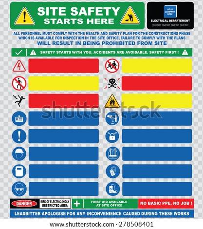 Site Safety Starts Here Site Safety Vector HD Royalty Free – Site Safety Plan Template Free