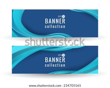 Site wave abstract smooth curve lines background for advertising banner - stock vector