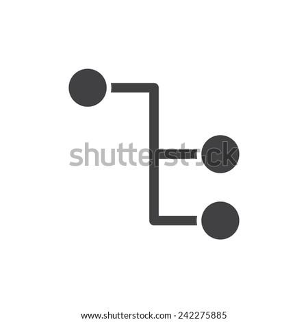 Sitemap, modern flat icon - stock vector