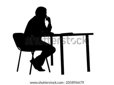 Sitting Silhouette - stock vector