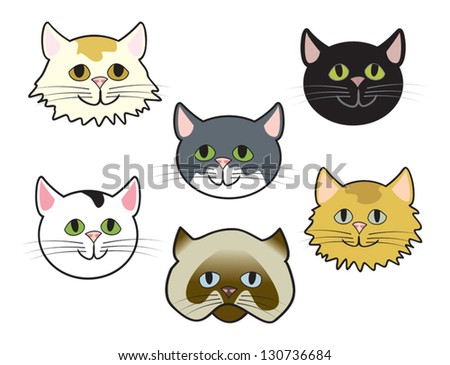 Cute Animated Cat Face | www.pixshark.com - Images ...