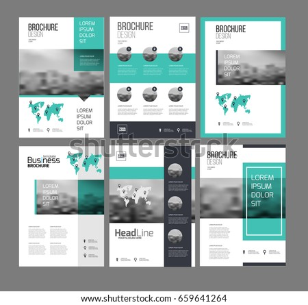 Six Flyer Marketing Templates Photo Text Stock Vector