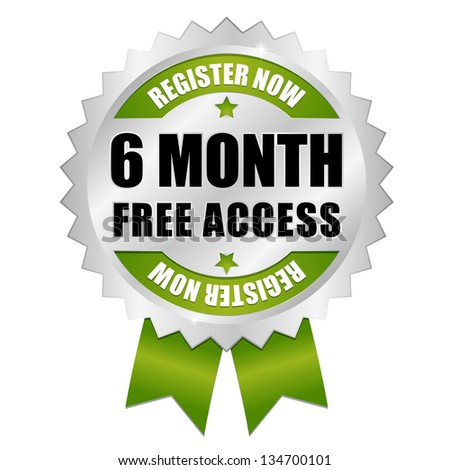 Six month free access button green