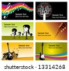 six music business cards to choose from - stock vector