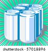 Six-pack cans - stock photo