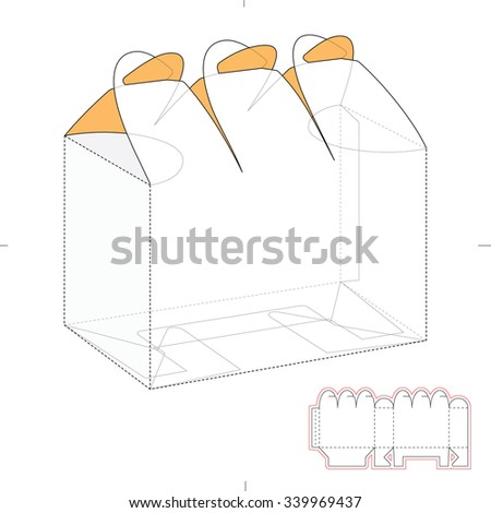 Six pack custom top lock box stock vector 339969437 shutterstock six pack custom top lock box with die cut template pronofoot35fo Images