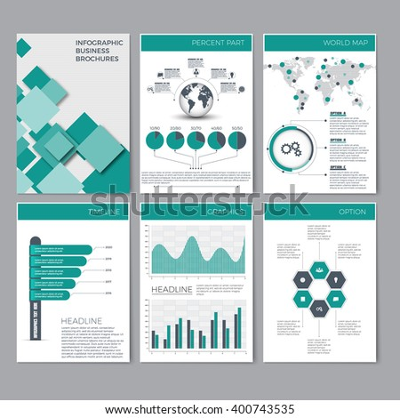 infographic brochure template - page layout template presentation brochure annual stock