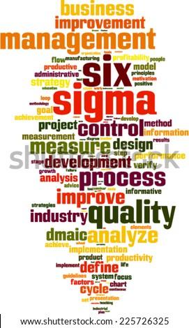 Six sigma word cloud concept. Vector illustration - stock vector