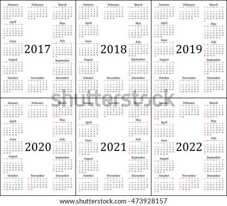 ten year calendars