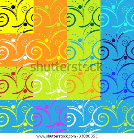sixteen variations of seamless patterns - stock vector