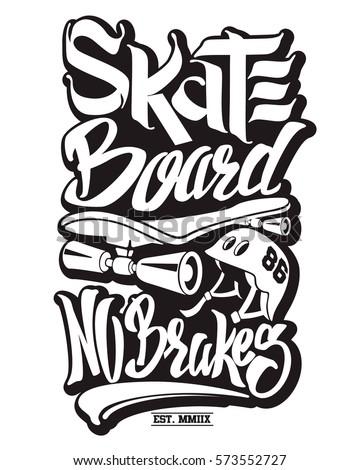 Skate Board Typography Tshirt Graphics Vectors Stock Vector ...