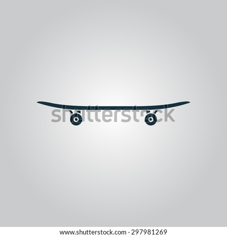 Skateboard. Flat web icon or sign isolated on grey background. Collection modern trend concept design style vector illustration symbol - stock vector