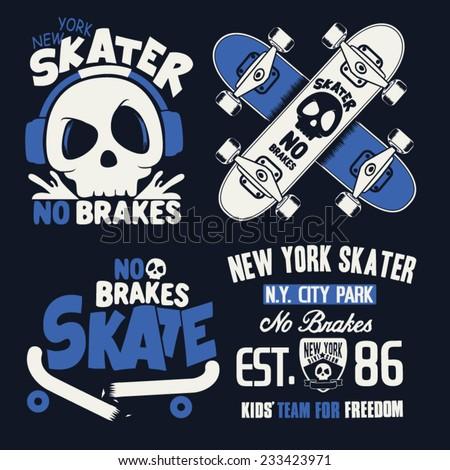 skateboard graphics  - stock vector