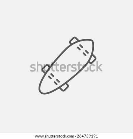 Skateboard icon - stock vector