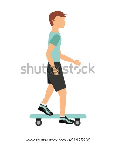 skateboard sport isolated icon design, vector illustration  graphic