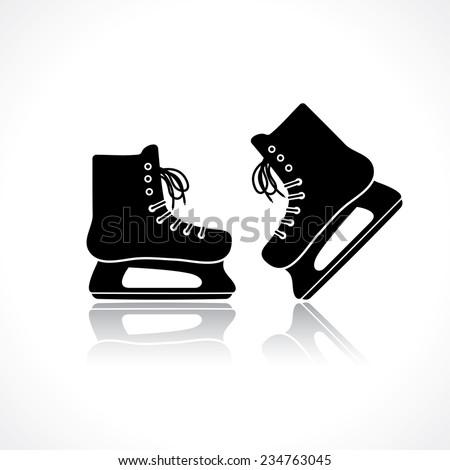 skates icon - stock vector