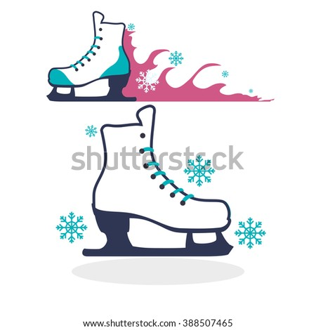 Skating icon design