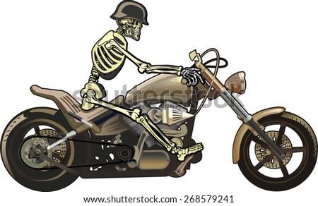 Skeleton Biker On Fire 1 Stock Footage Video 1465609   Shutterstock