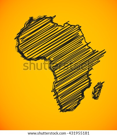 Sketch african continent african continent african continent african continent african continent african continent african continent african continent african continent african continent african map - stock vector