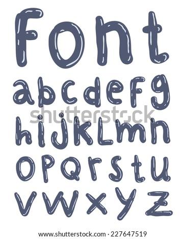 Sketch alphabet Hand drawn.  - stock vector