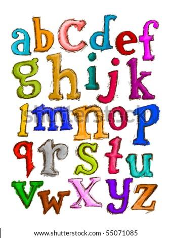 Sketch Alphabet - Vector - stock vector
