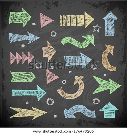 Sketch arrow collection for your design.  - stock vector