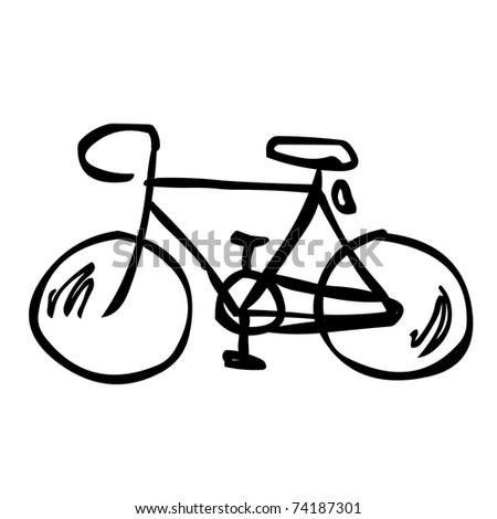 sketch - bicycle - stock vector