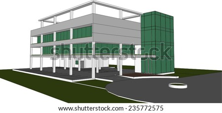 sketch design of building,vector