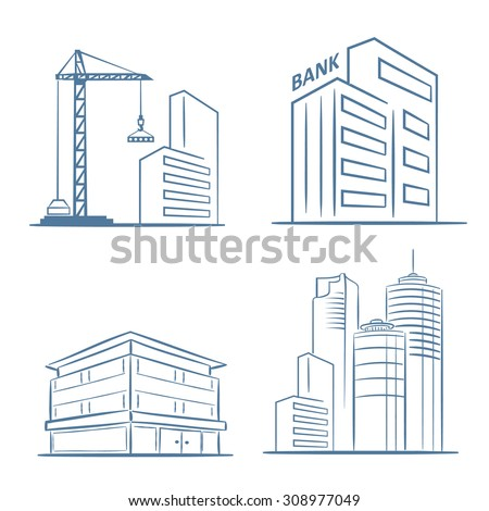 Architecture Buildings Sketch building sketch stock images, royalty-free images & vectors