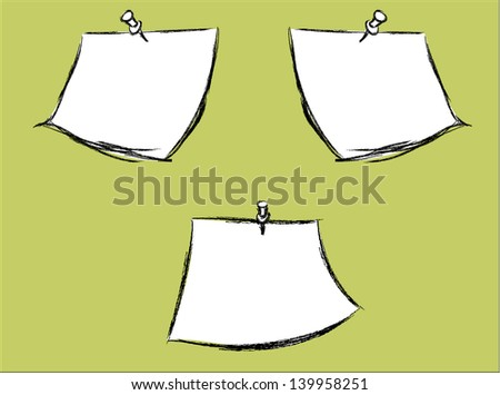 Sketch Note papers - stock vector