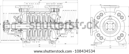 Sketch centrifugal pump vector eps 10 stock vector 108434534 sketch of a centrifugal pump vector eps10 ccuart Image collections