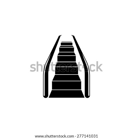 Sketch of escalator. Vector illustration rendering of 3d - stock vector